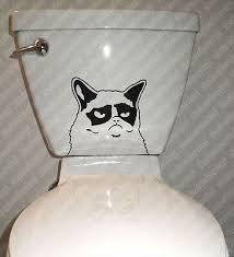 Grumpy Cat Toilet Vinyl Decal Sticker Funny Meme Angry Bathroom Humor Wall Art Ebay