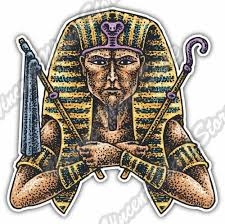 Egyptian Pharaoh God Sarcophagus Sphinx Car Bumper Vinyl Sticker Decal 4 X5 For Sale Online Ebay