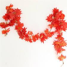 1x 2 4m Autumn Leaves Garland Maple Leaf Vine Fake Foliage Wedding Home Decor 243252357748 Ebay
