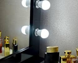 hollywood glow black chrome vanity
