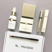 wantable makeup subscription box review