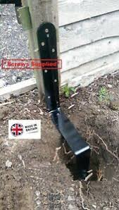 Rsl Easy Fence Post Support Repair Spike Knock In Concrete In And Screw Down Ebay