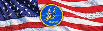 Seabees Military Rear Window Graphic