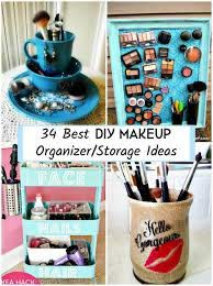 34 best diy makeup organizer storage