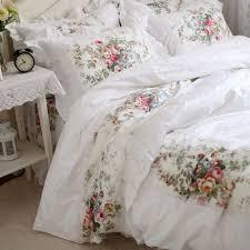 royal rose garden ruffle duvet cover