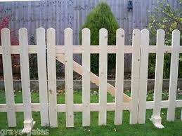 Freestanding Portable Event Display Barrier Temporary Wooden Picket Fence Panels Picket Fence Panels Fence Panels Fence