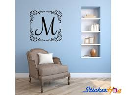 Personalized Initial Wall Decal Monogram Living And Family Room Vinyl Wall Decal Graphics Bedroom Home Decor