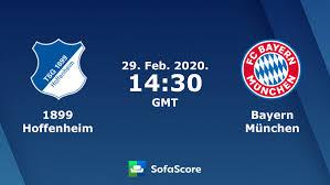 1899 Hoffenheim Bayern München live score, video stream and H2H ...