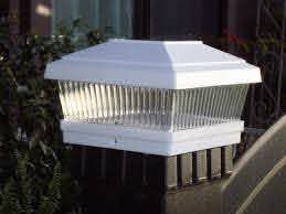 Solar Fence Post Lights For Actual 5x5 Posts White Set Of 2 Solar Powered Led Lights Solar Powered Lights Post Lights