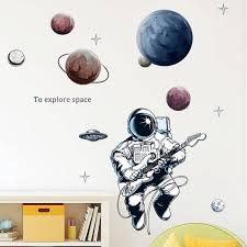 Creative Astronaut Wall Sticker Space Planet Explore Kids Boys Bedroom Decoration Removable Wallpaper Poster Decals Baby Nursery Wall Stickers Baby Room Wall Decals From Aurorl 26 91 Dhgate Com