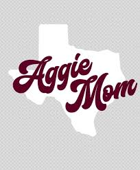 Texas A M Aggie Mom Lonestar Decal White The Warehouse At C C Creations