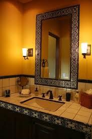 mediterranean bathroom mirror design