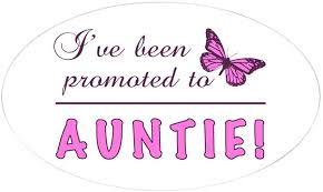 Amazon Com Cafepress Promoted To Auntie Oval Bumper Sticker Euro Oval Car Decal Home Kitchen