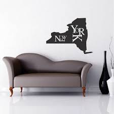 New York State Wall Decal Decor Modern New York Wall Lettering Decal State Wall Decor Us States From Trendy Wall Designs