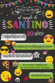 Invitacion Digital Emoji Cumpleanos Tarjeta Whatsapp 70 00 En