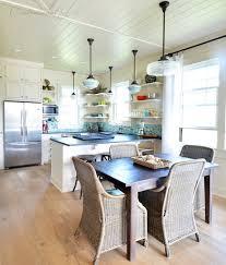 schoolhouse pendants grace kitchen of