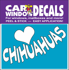 Love Chihuahua Car Window Decals