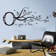 Large Once Upon A Time Quote Wall Sticker Library Baby Nursery Tree Inspirational Quote Wall Decal Bedroom Classroom Vinyl Decor Wall Stickers Aliexpress