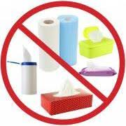 Image result for no wipes in the pipes