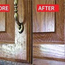 clean grease from kitchen cabinet doors
