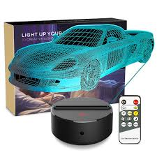 Night Light 3d Toy Car 3d Lamp Optical Illusion Nightlight Bedside Lamp 7 Colors Changing Led Lamps With Remote Birthday Gifts For Girls Kids Baby Boys And Room Decor Toy Car