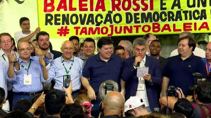 Resultado de imagem para CONMVENÇÃO DO MDB EM BRASILIA ELEGEU BALEIA ROSSI