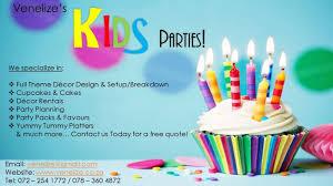 venelize events decor kids birthday parties pretoria