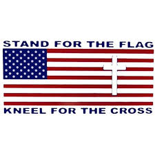 Wholesale Lot Of 6 Stand For The Flag Kneel For The Cross Decal Bumper Sticker Ez Peel Bumper Sticker 4 00x7 50 By Aes Usa Walmart Com Walmart Com