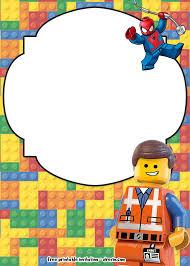 Free Lego Movie Invitations For Birthday En 2020 Con Imagenes