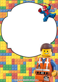 Free Lego Movie Invitations For Birthday Con Imagenes Crear
