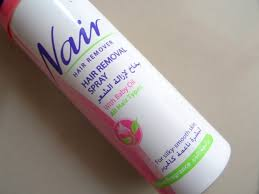 nair rose hair removal spray with baby