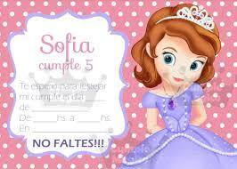 Invitaciones Cumpleanos Personalizadas Princesita Sofia X 20