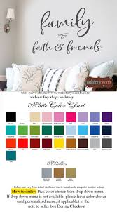 Family Wall Quotes Family Faith And Friends Gather Inspirational Wall Decal Vinyl Words Sign Home Sayings Kitchen Dining Room Welcome