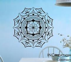 Mandala Vinyl Wall Decal Om Symbol Wall Sticker Lotus Home Decor Bedroom Yoga Ebay
