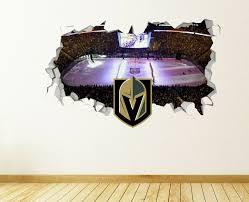 Vegas Golden Knights Nhl Wall Decal Home Decor Vinyl Sticker