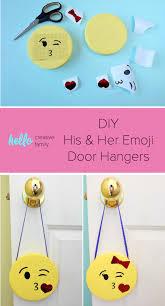 His And Her Diy Emoji Door Hangers Hello Creative Family