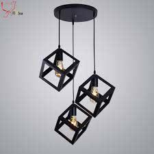 loft lamp vintage pendant light black