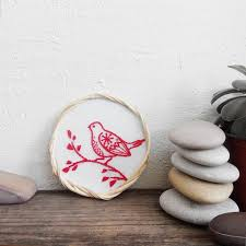 Bird Hand Embroidery Bird Decor For Kids Room Unique Baby Gift Etsy