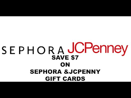 get a 50 sephora or jcpenny gift card