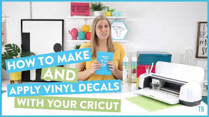 How To Make And Apply Vinyl Decals With Your Cricut Youtube