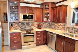 kitchen colors for cherry cabinets at