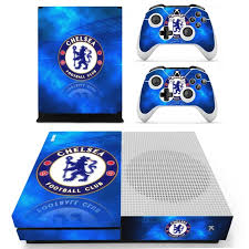 Chelsea Football Team Skin Sticker Decal For Xbox One S Console And Controllers For Xbox One Slim Skin Stickers Vinyl Consoleskins Co