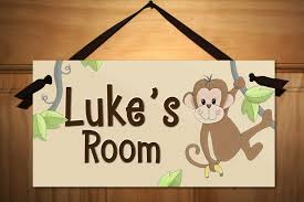 Buy Personalized Kids Door Sign For Tan Monkey Jungle Animal Name Plaque Kids Bedroom Door Sign Ds0053 In Cheap Price On M Alibaba Com