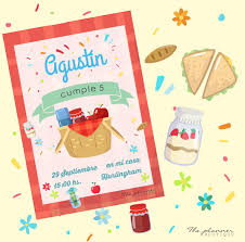 Picnic Invitaciones Digitales Impresas Candy Bar Toppers 180