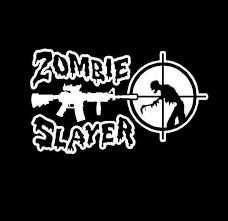 Zombie Slayer Decal Sticker Midwest Sticker Shop