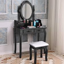 costway vanity wood makeup dressing