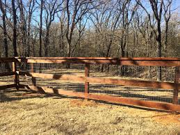 Three Rail Ranch Fence With No Climb And Cap Board Installed By Titan Fence Supply Company Ranch Fencing Third Rail Landscape Design