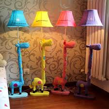 Decoration Floor Stand Lamp Fabric Animal Blue Yellow Pink Spotted Giraffe Kids Lighting Floor Light For Living Room Bedroom Floor Standing Lamps Standing Lampfloor Light Aliexpress