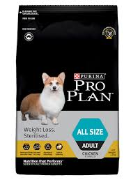 weight loss sterilised purina pro plan