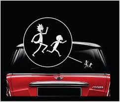 Rick And Morty Window Decal Sticker A2 Window Decals Vinyl Window Decals Decals Stickers